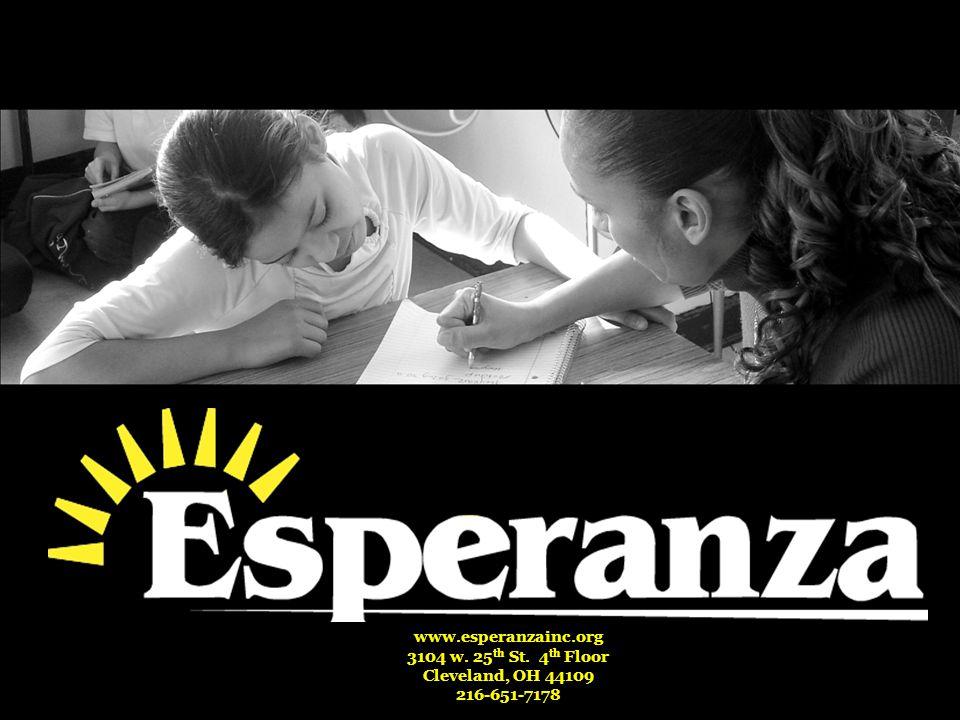 www.esperanzainc.org 3104 w. 25 th St. 4 th Floor Cleveland, OH 44109 216-651-7178
