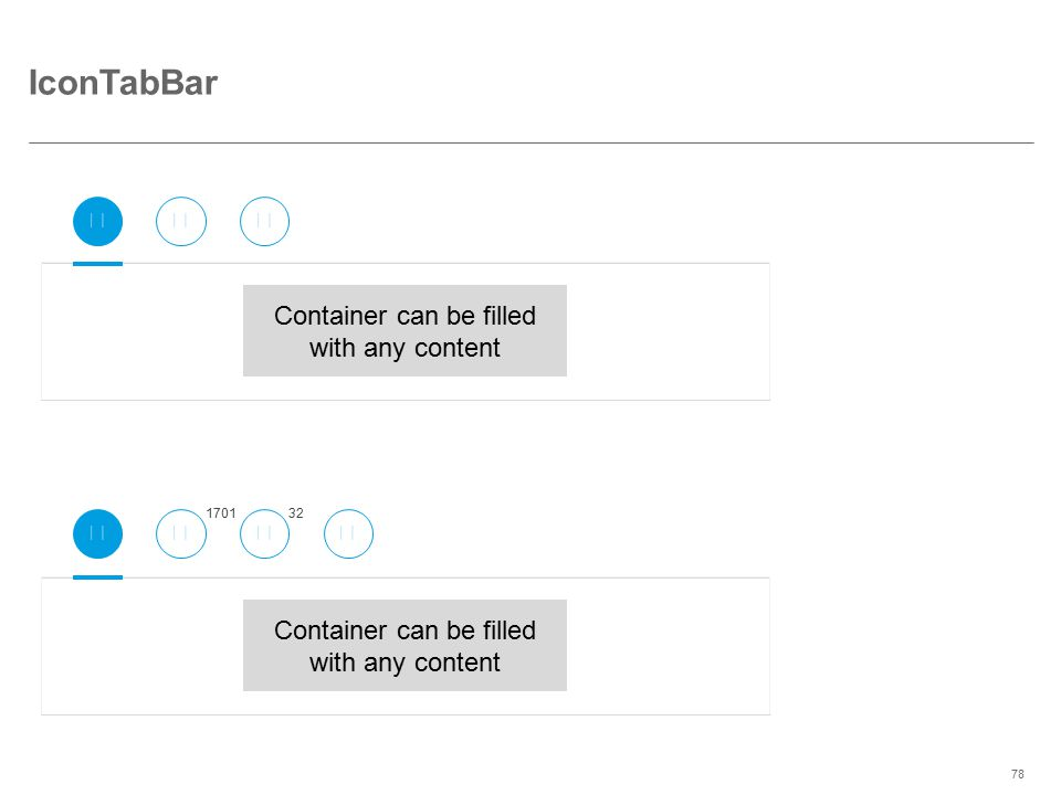©2014 SAP AG or an SAP affiliate company. All rights reserved.78 IconTabBar Container can be filled with any content 170132