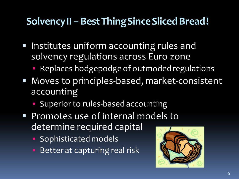6 Solvency II – Best Thing Since Sliced Bread .