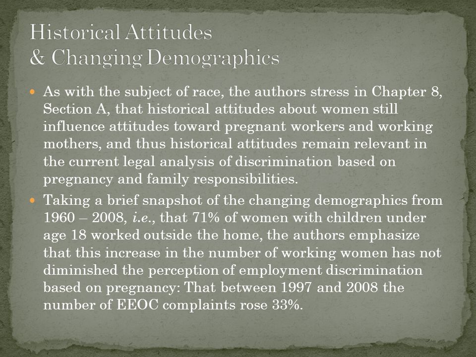 In Section B, the authors explain that, despite EEOC Guidelines, and the view of federal circuit courts that discrimination based on pregnancy was a form of disparate treatment based on sex, in violation of Title VII, the Supreme Court, in General Electric v.