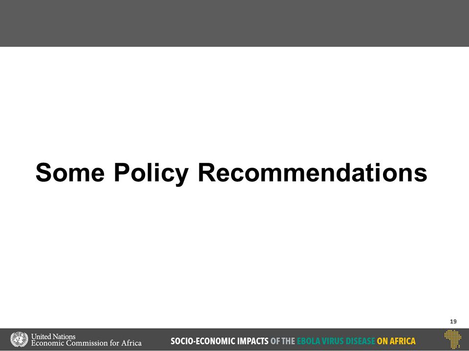 Some Policy Recommendations 19