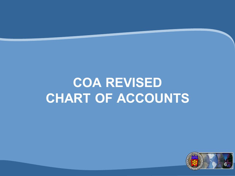 6 COA REVISED CHART OF ACCOUNTS