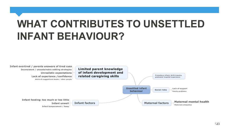 WHAT CONTRIBUTES TO UNSETTLED INFANT BEHAVIOUR.