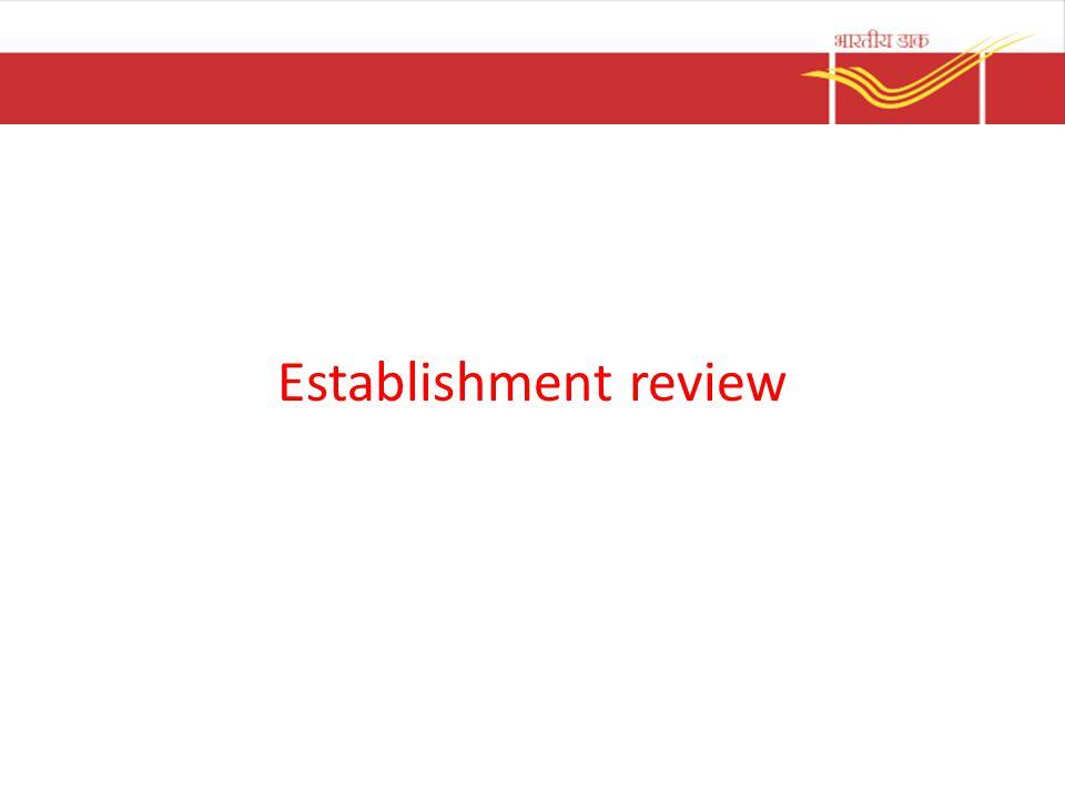 Establishment review