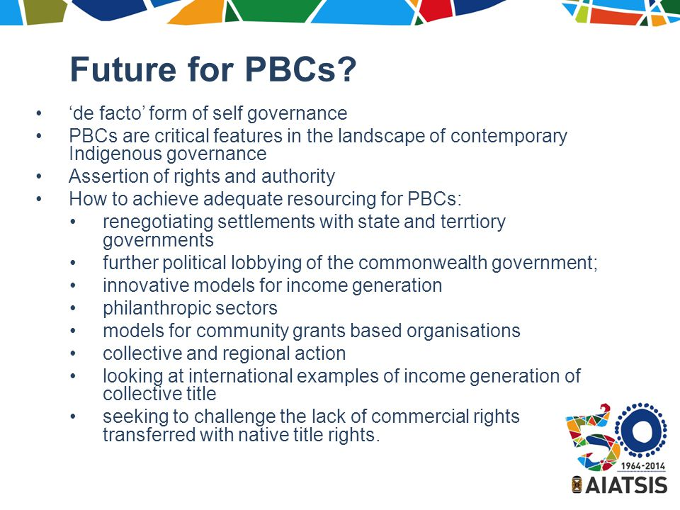 Future for PBCs.