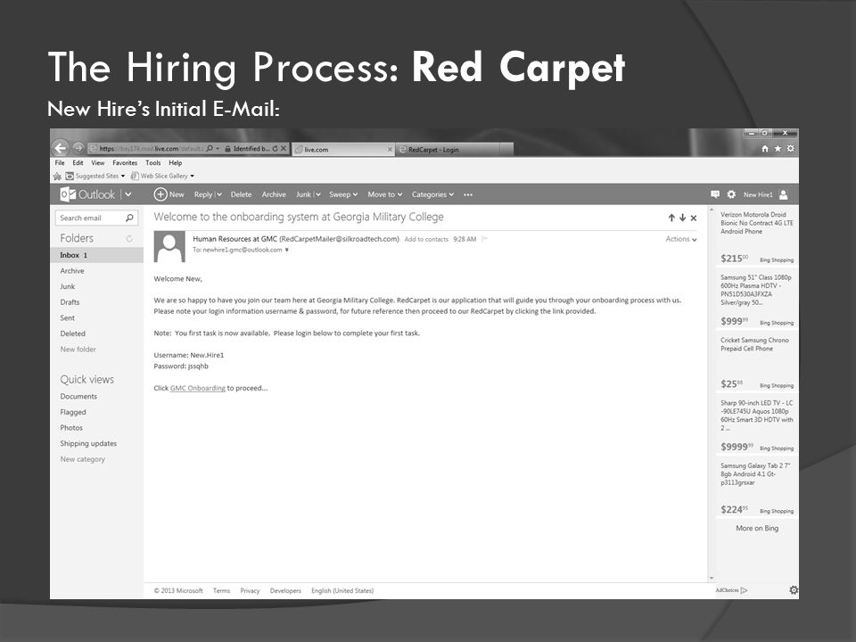 The Hiring Process: Red Carpet New Hire's Initial E-Mail: