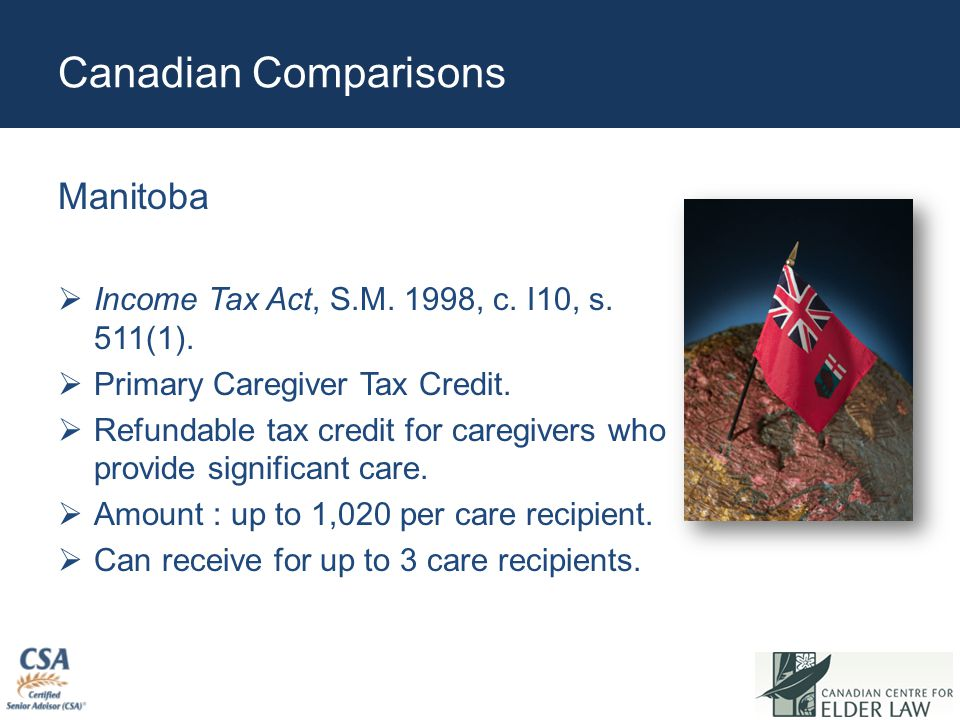 Canadian Comparisons Manitoba  Income Tax Act, S.M.