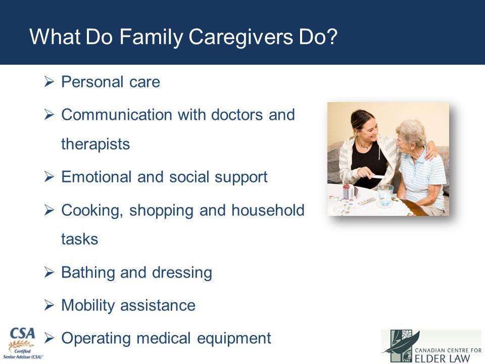What Do Family Caregivers Do.