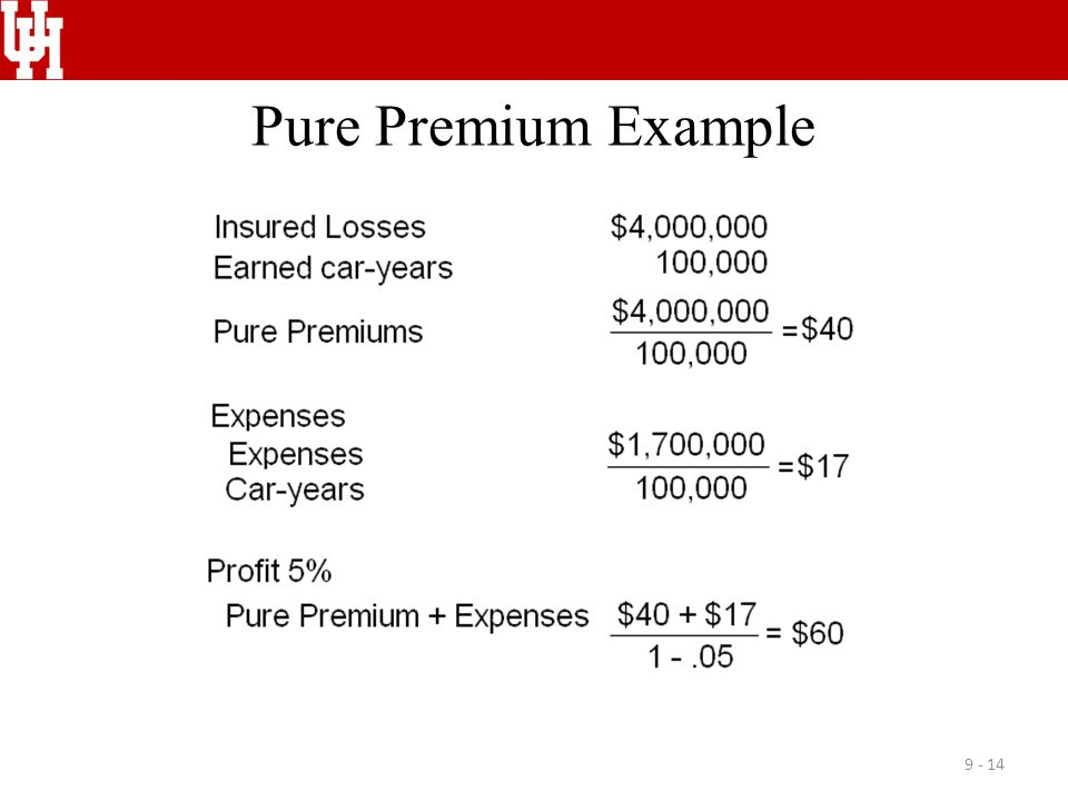 Pure Premium Example 9 - 14