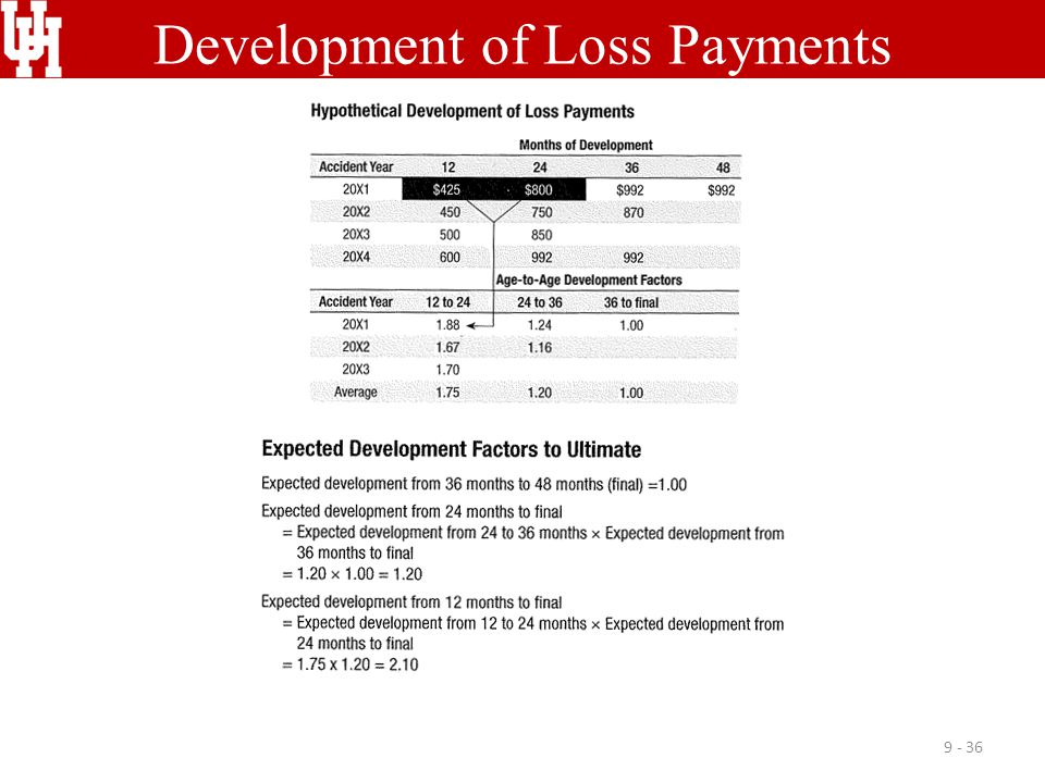 Development of Loss Payments 9 - 36