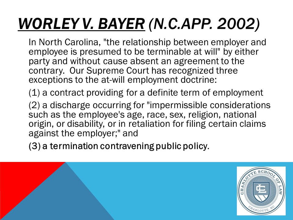 WORLEY V. BAYER (N.C.APP.