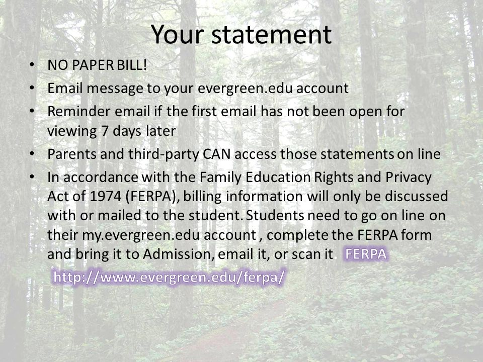 HOLD on the account will prevent Pre-registration Release of transcripts Release of diploma Will not prevent Financial Aid from posting on the account if registered.