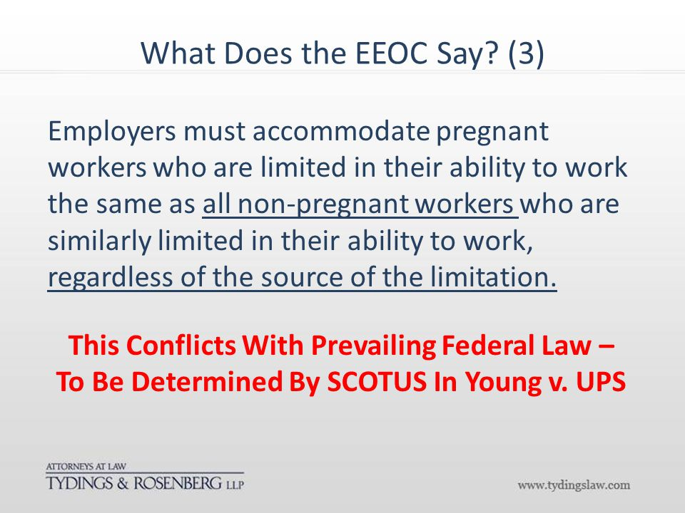 What Does the EEOC Say.