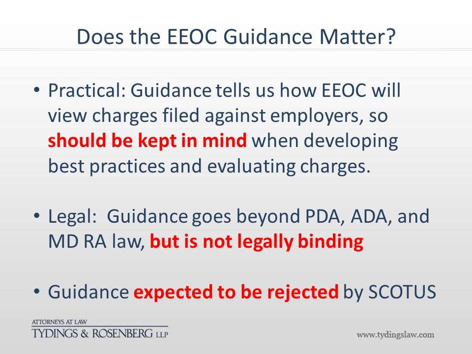 Does the EEOC Guidance Matter.