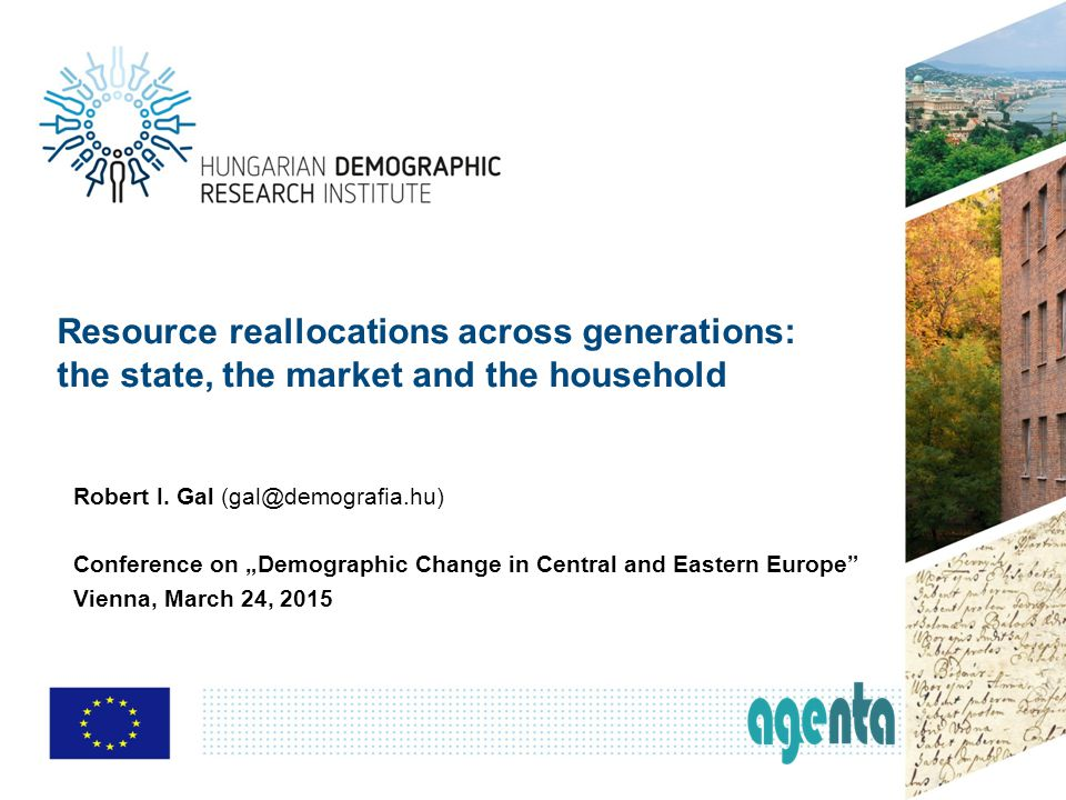 Resource reallocations across generations: the state, the market and the household Robert I.