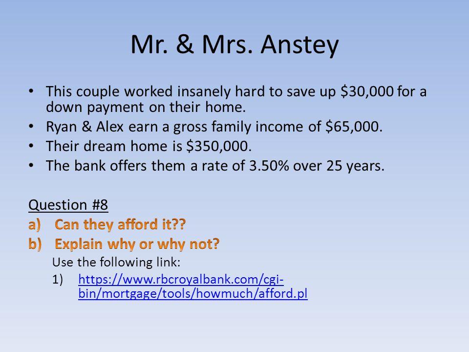 Mr. & Mrs. Anstey