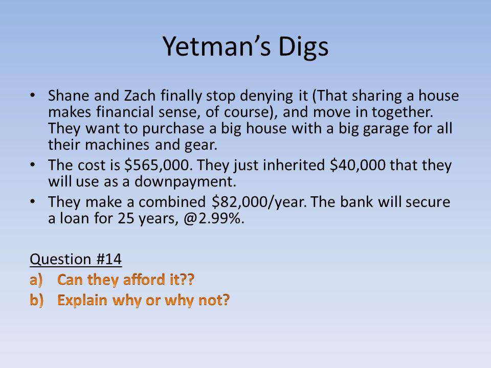 Yetman's Digs