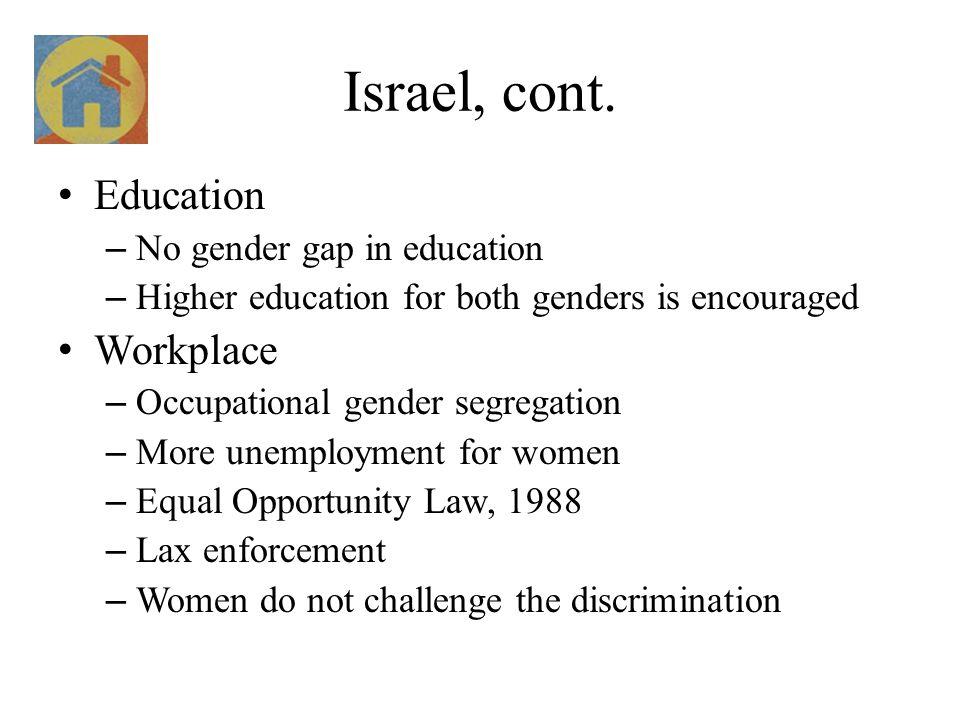 Israel, cont.