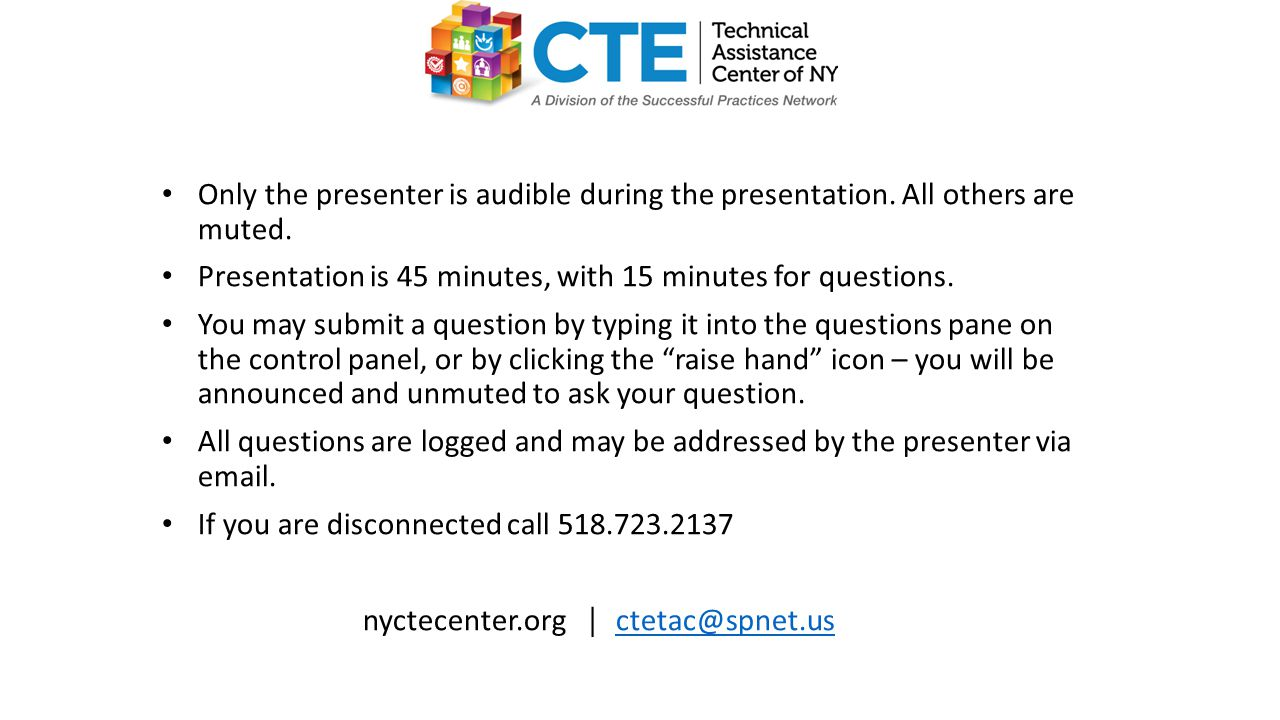 Only the presenter is audible during the presentation.