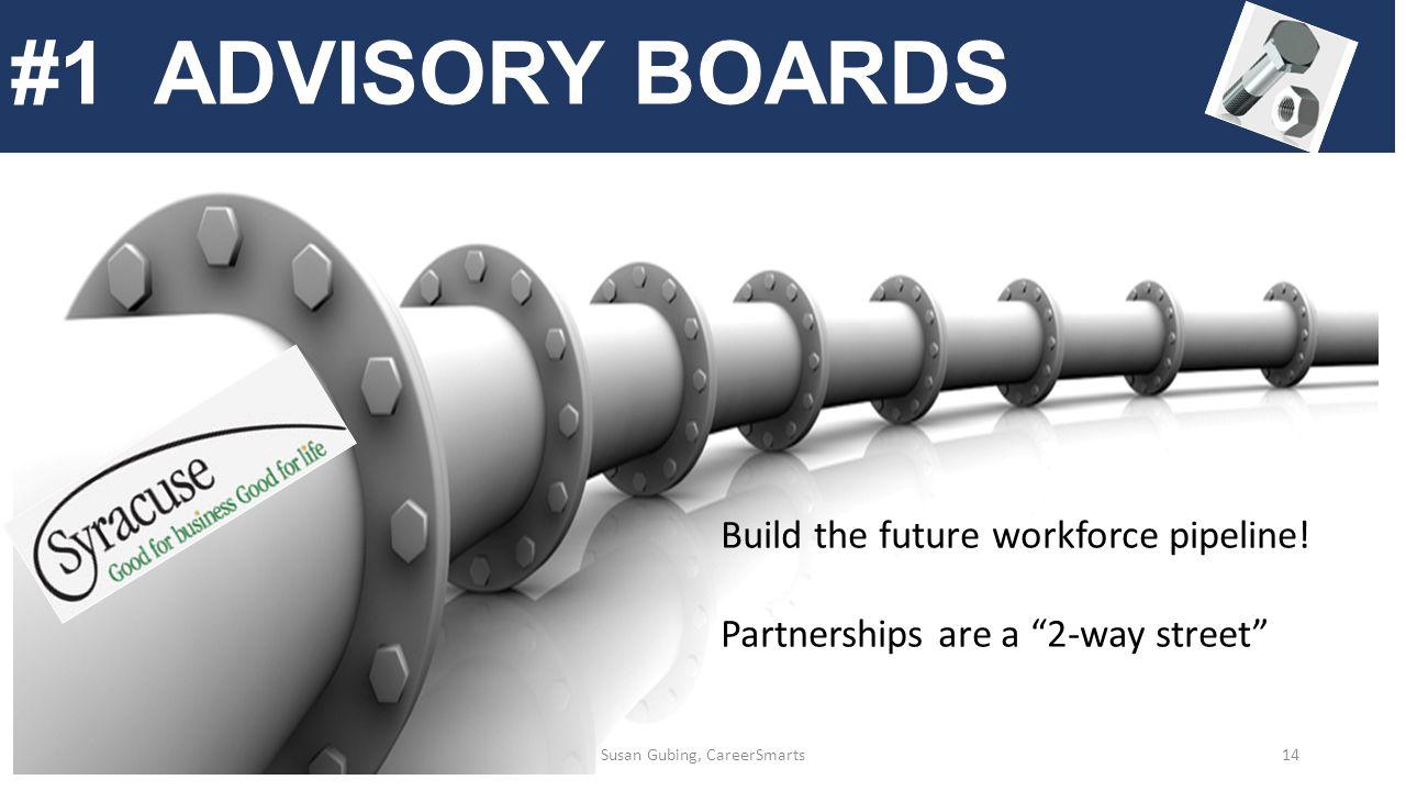 #1 ADVISORY BOARDS Build the future workforce pipeline.