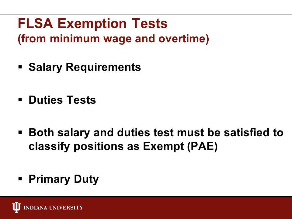 Exempt vs.
