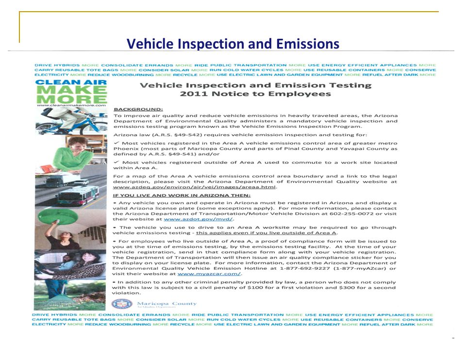 Vehicle Inspection and Emissions
