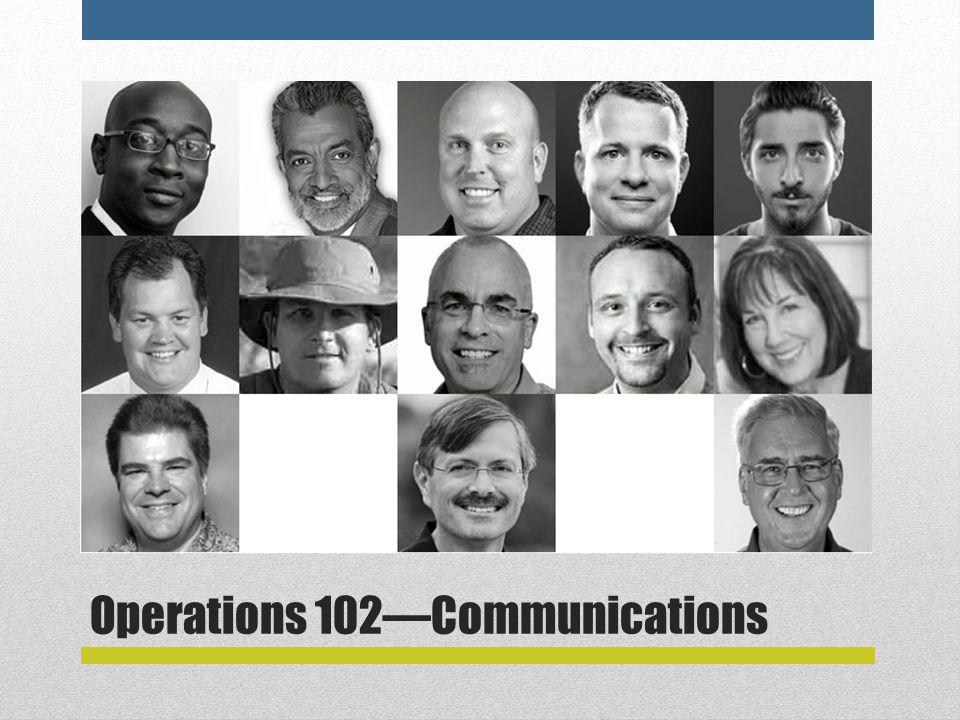 Operations 102—Communications