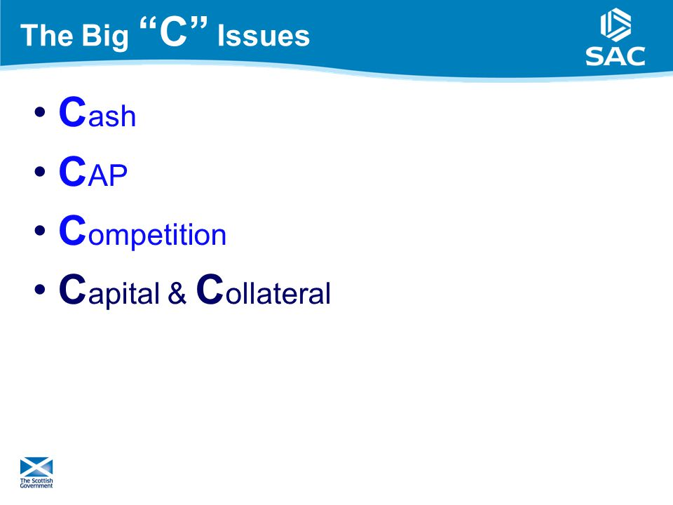 The Big C Issues C ash C AP C ompetition C apital & C ollateral 15