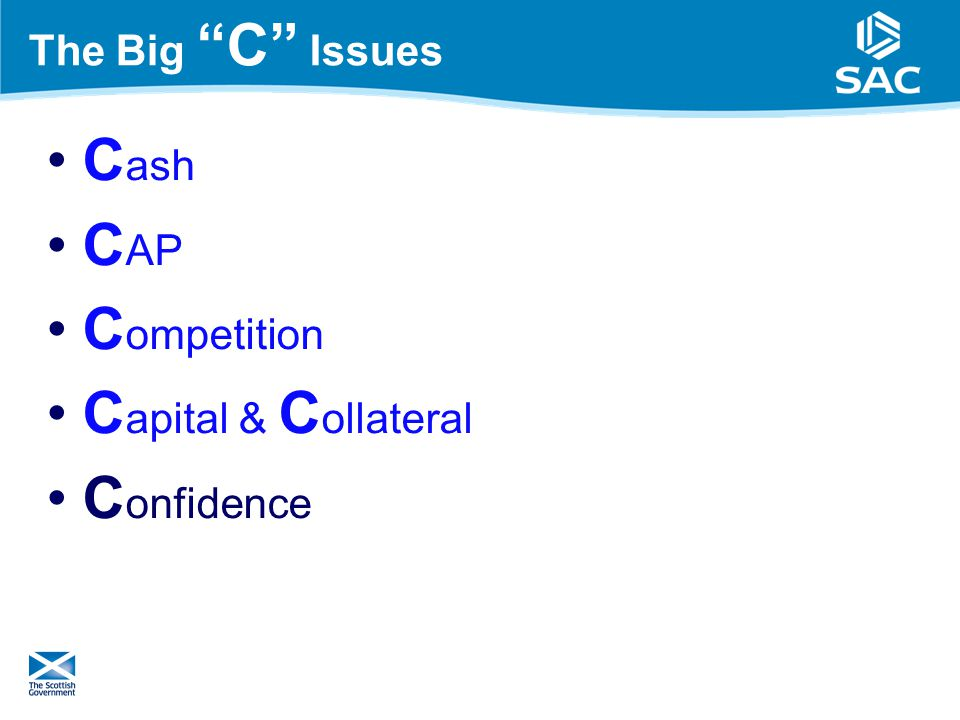 The Big C Issues C ash C AP C ompetition C apital & C ollateral C onfidence 18