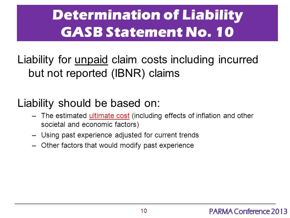 10 Determination of Liability GASB Statement No.