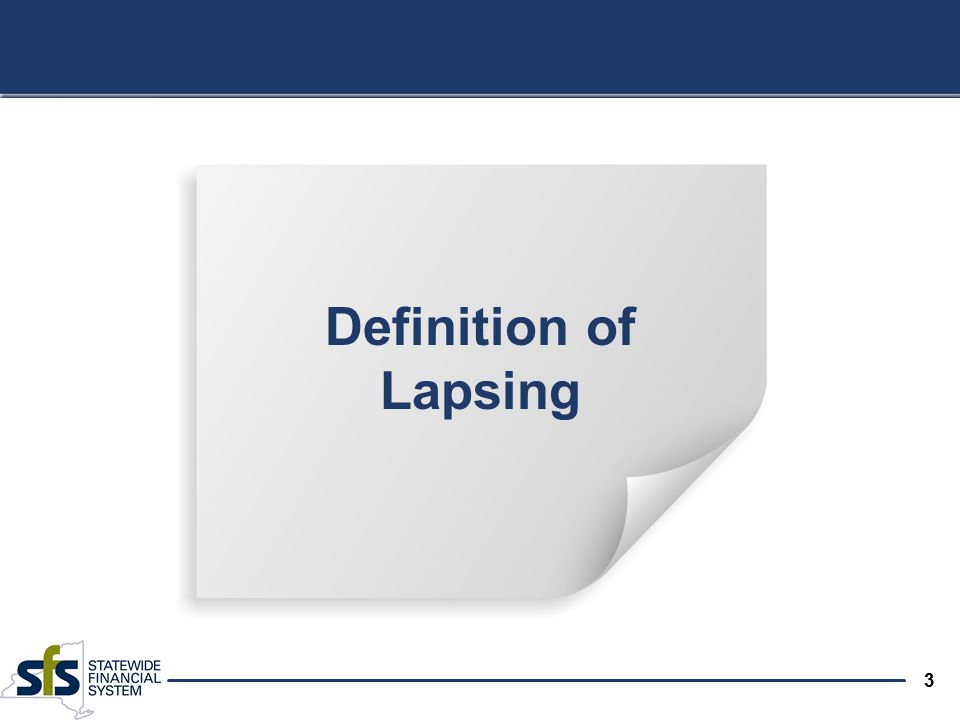 3 Definition of Lapsing
