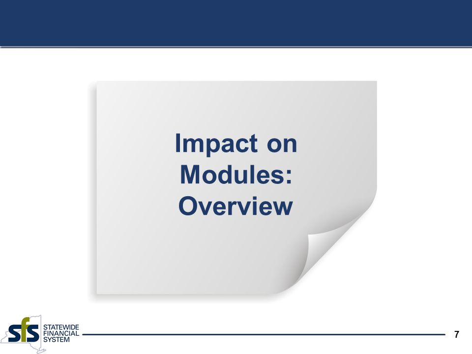 7 Impact on Modules: Overview