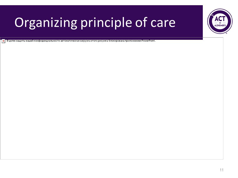 Organizing principle of care 11