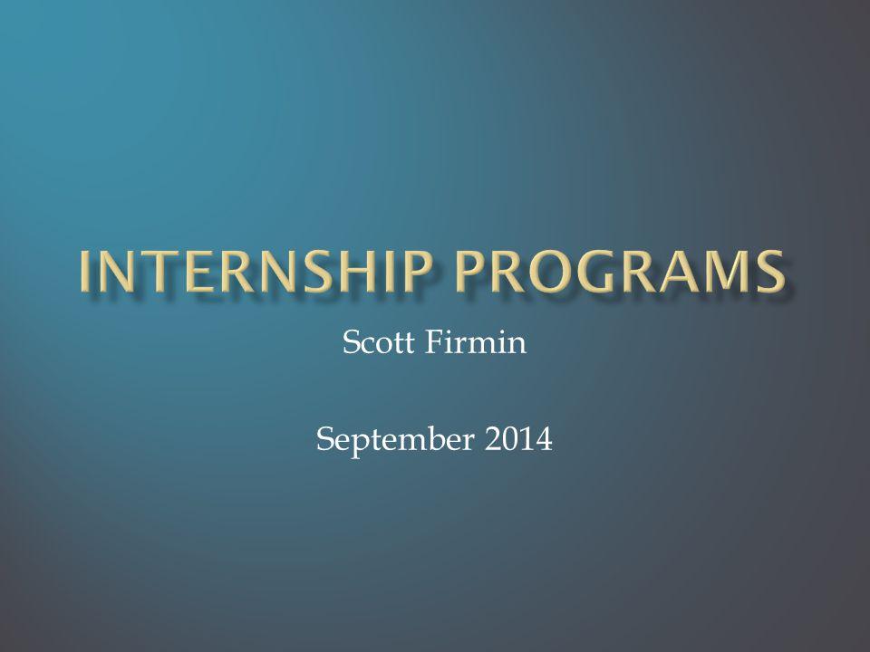 Scott Firmin September 2014