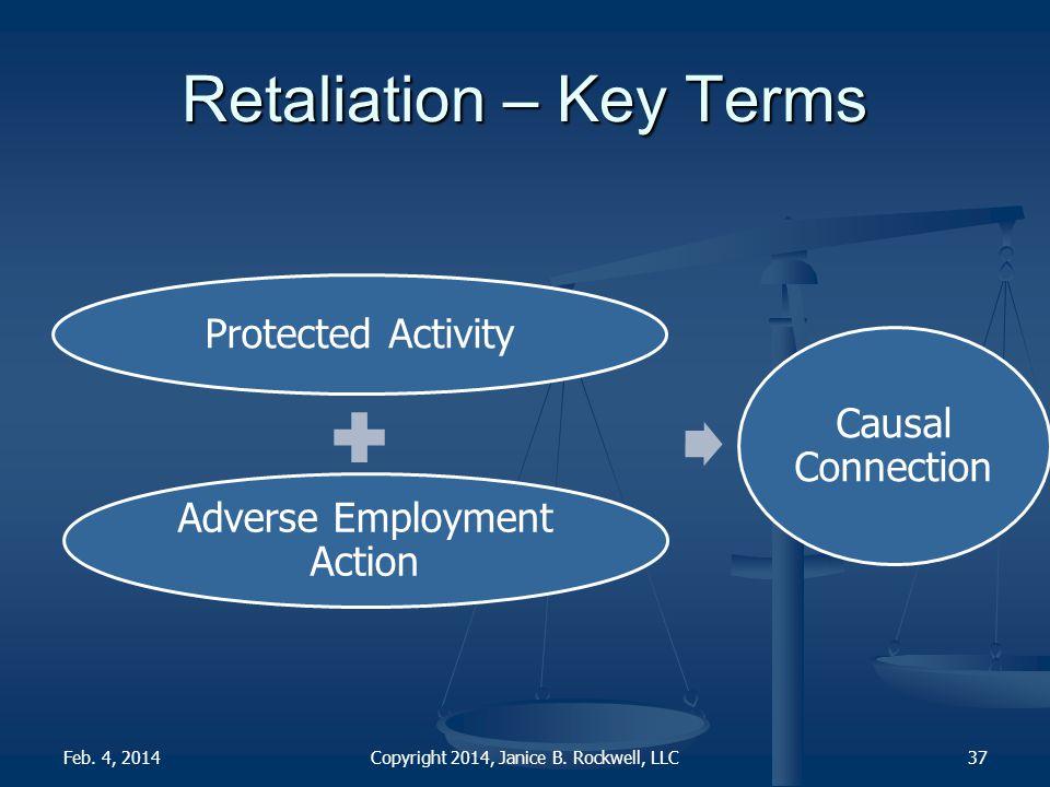 Retaliation – Key Terms Copyright 2014, Janice B.
