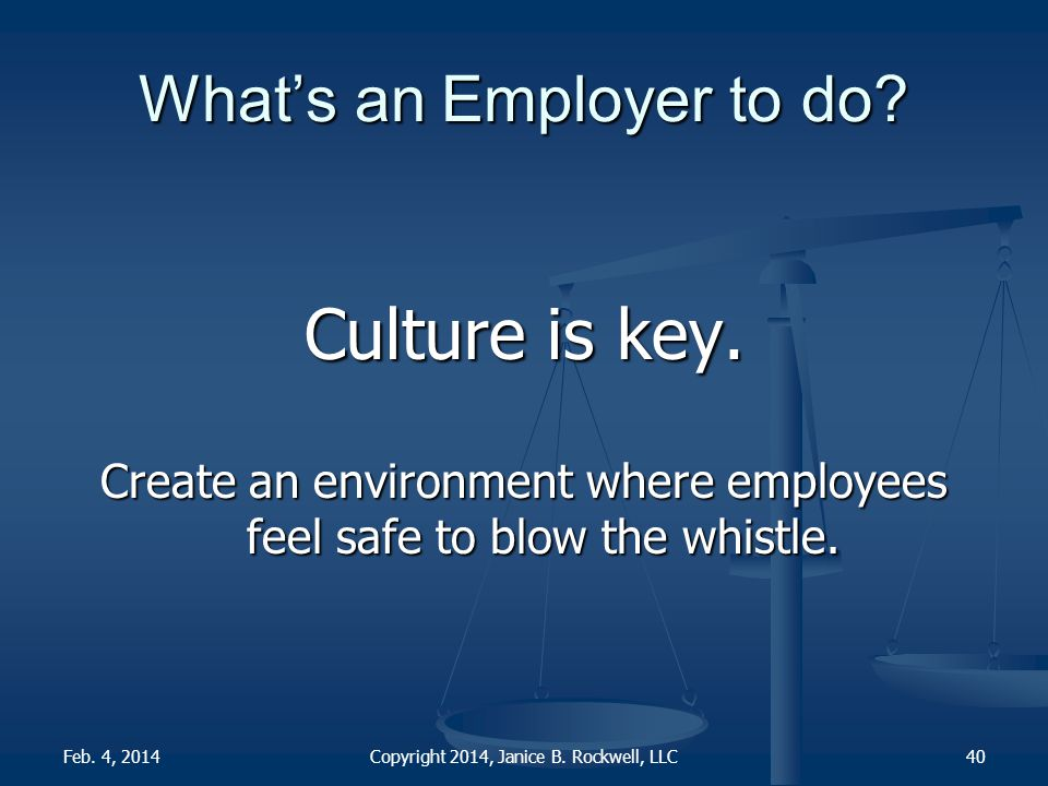 What's an Employer to do. Culture is key.