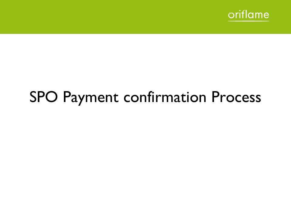 SPO Payment confirmation Process