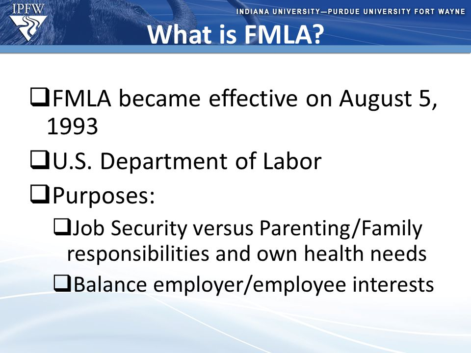 Type Header Here Topic 1 Bullet point 1 (take out if not needed) Bullet point 2 (take out if not needed) Topic 2 Bullet point 1 (take out if not needed) Bullet point 2 (take out if not needed) – Additional bullet point (take out if not needed) What is FMLA.
