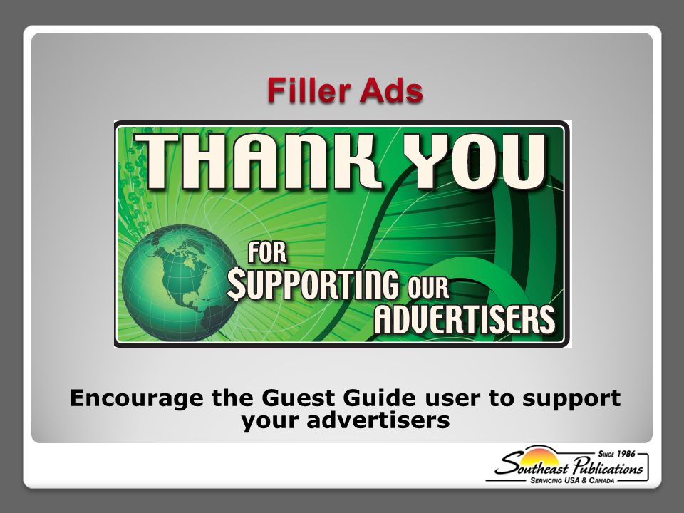Encourage the Guest Guide user to support your advertisers