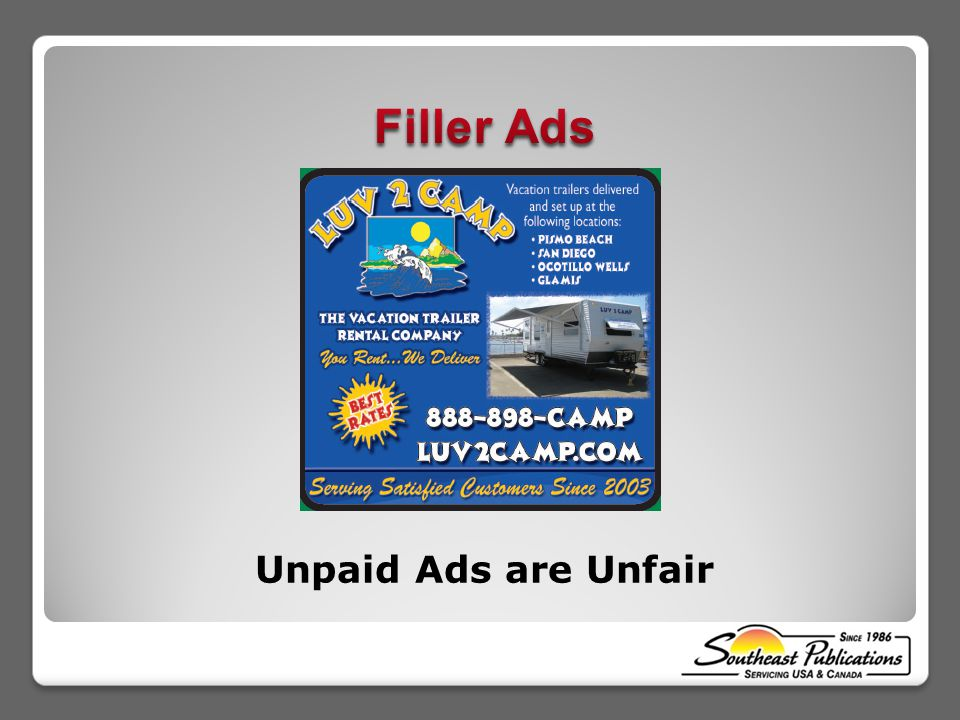 Unpaid Ads are Unfair