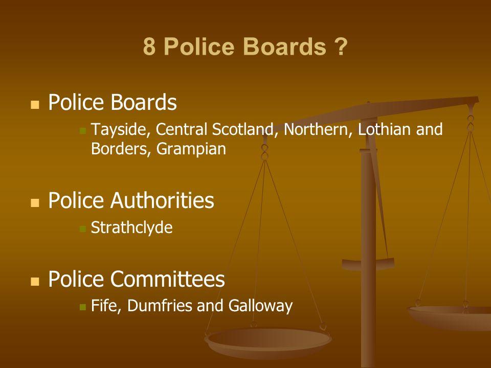 8 Police Boards .