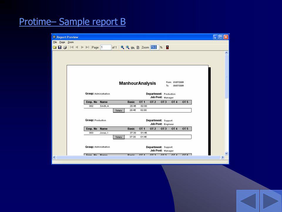 Protime– Sample report B