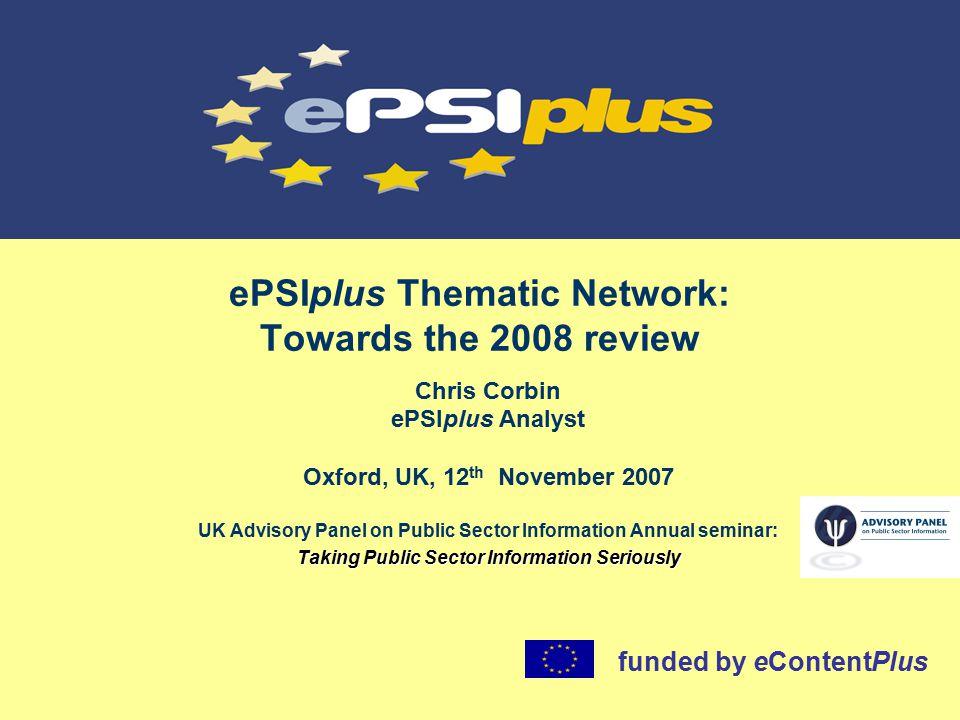 www.ePSIplus.net 3: Establishing the PSI framework NumberPercentage 28 months