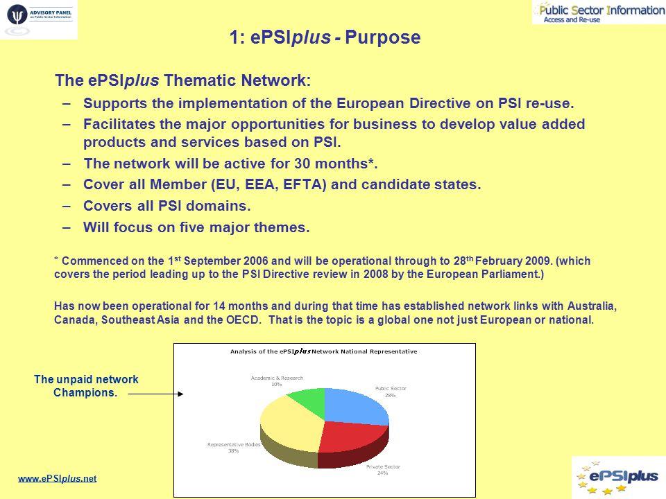 1: ePSIplus - Major themes 1.