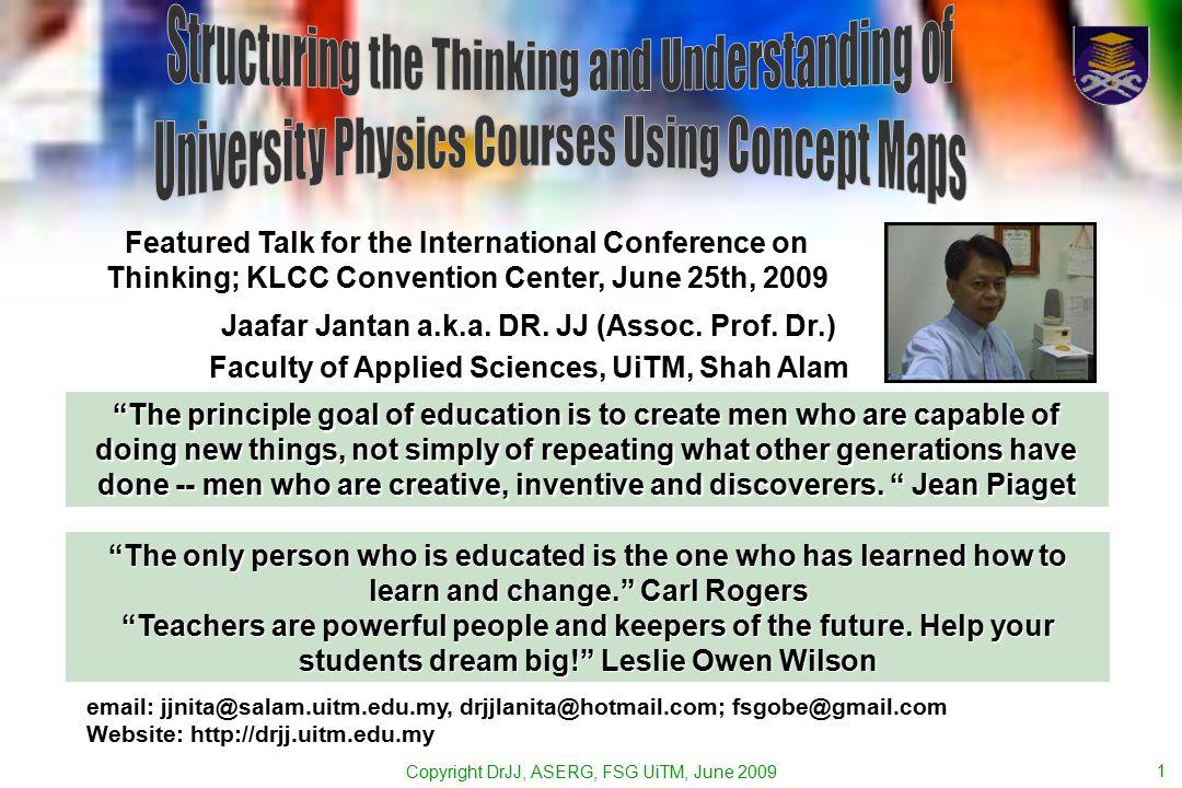Copyright DrJJ, ASERG, FSG UiTM, June 2009 1 email: jjnita@salam.uitm.edu.my, drjjlanita@hotmail.com; fsgobe@gmail.com Website: http://drjj.uitm.edu.my Jaafar Jantan a.k.a.