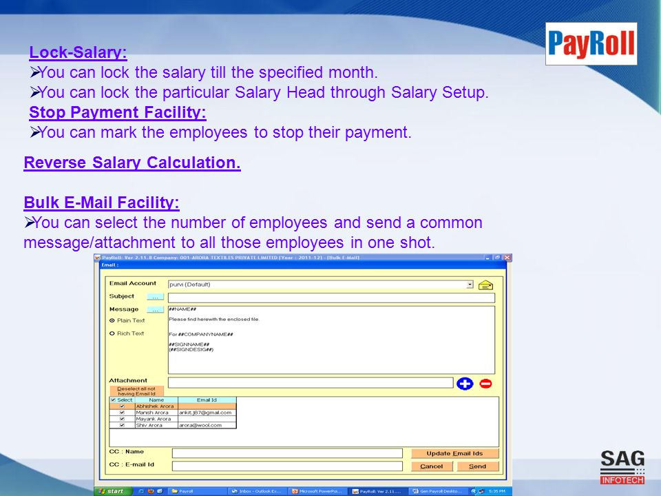 Reverse Salary Calculation.