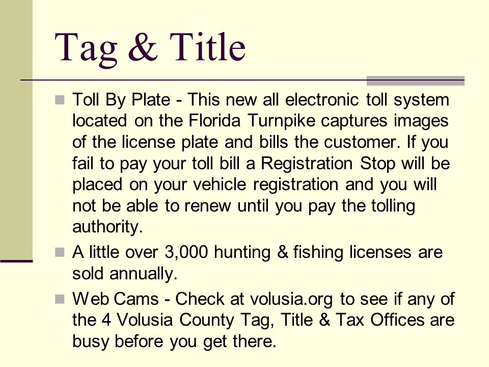 Tag & Title Handicapped Parking Permits - Volusia County has approximately 44,000 holders of blue permanent disabled parking permits.
