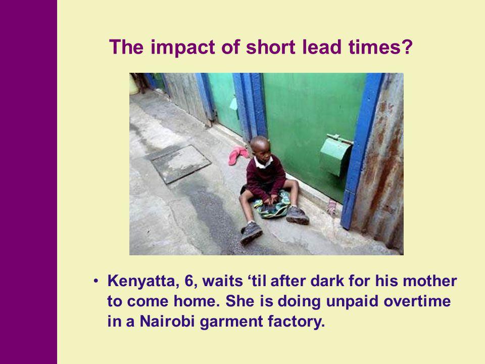 Kenyatta, 6, waits 'til after dark for his mother to come home.