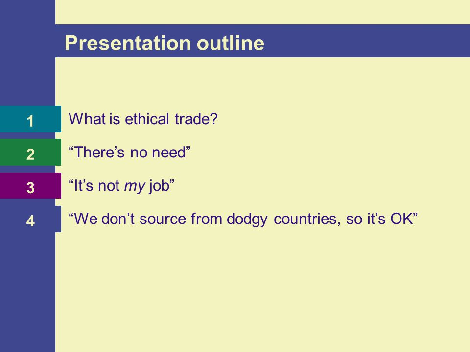 What is ethical trade?