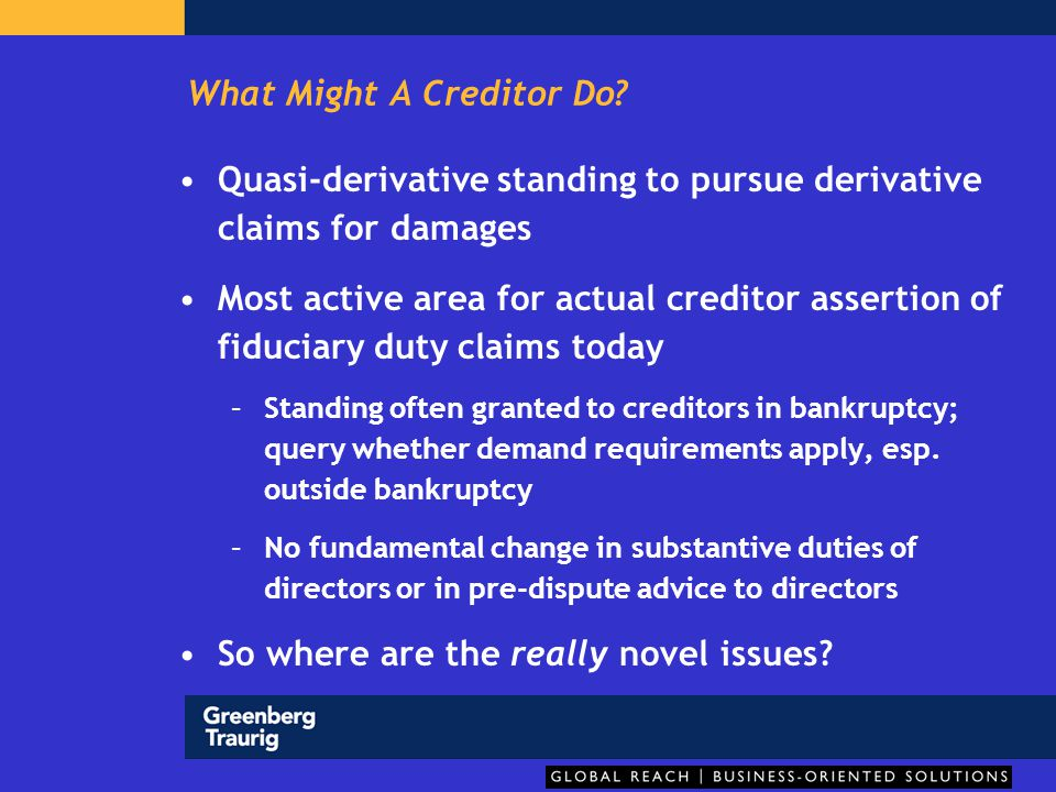 What Might A Creditor Do.